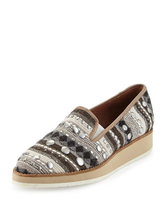 Betina Fiesta-Fabric Loafer, Black/Multi