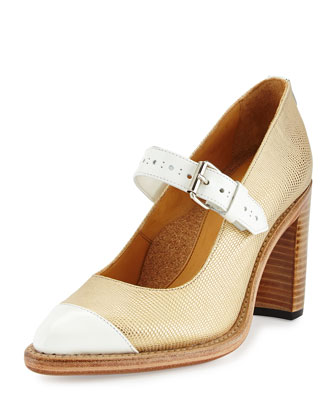 Ms. Harlow Mary Jane Pump, Gold
