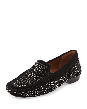 Lanie Studded Suede Loafer