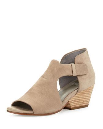 Iris Open-Toe Nubuck Sandal