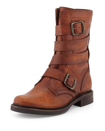 Veronica Tanker Moto Boot, Cognac