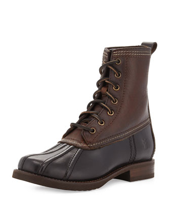 Veronica Leather Weather Boot, Black