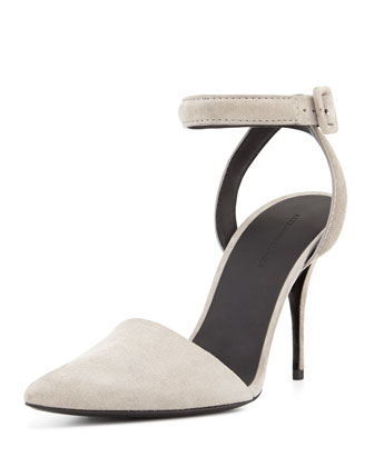 Lovisa Pointed-Toe Pump, Pewter