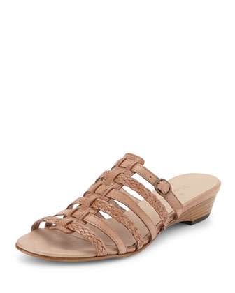 Greer Strappy Woven Sandal, Natural