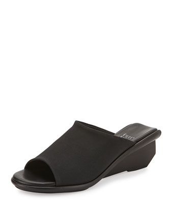 Jut Stretch Grosgrain Wedge Slide