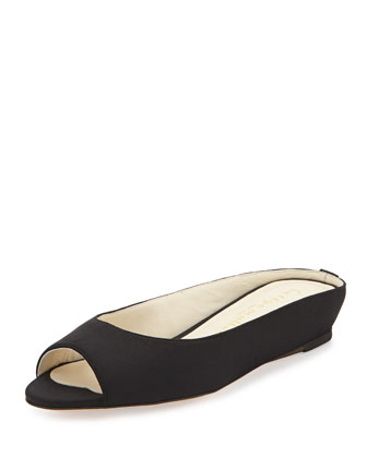Tangier Peep-Toe Demi-Wedge Slide