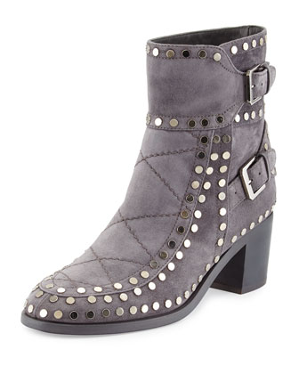 Gatsby Studded Ankle Boot, Gray