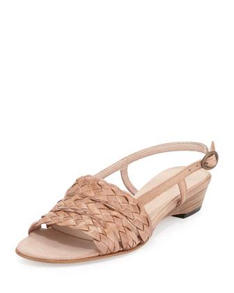 Ginny Woven Slingback Sandal, Natural
