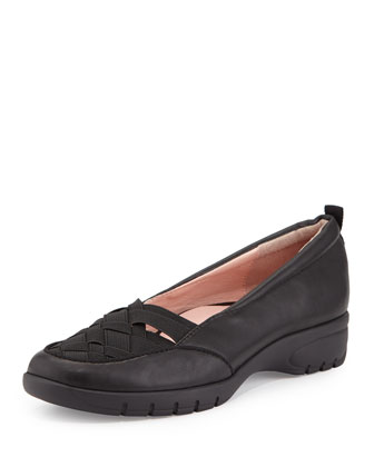 Alick Stretch-Woven Flat, Black