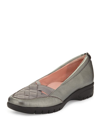 Alick Stretch-Woven Flat, Pewter