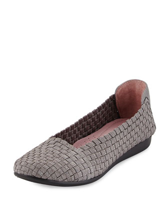 Belicia Stretch-Woven Flat, Pewter