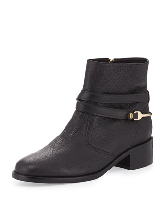 Romilly Leather Ankle Boot, Black