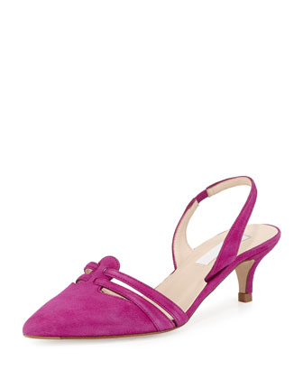 Gabby Suede Slingback Pump, Orchid