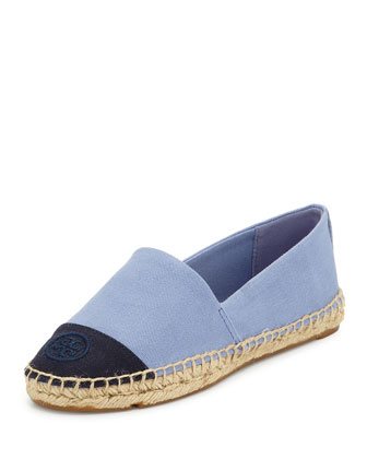Canvas Cap-Toe Espadrille, Blue