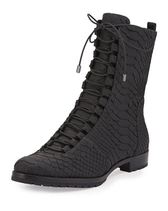 Benjamine Python Lace-Up Boot, Black