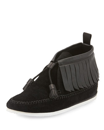 Ghita Slip-On Moccasin, Black