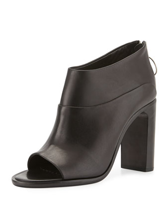 Liam Leather Ankle Boot, Black