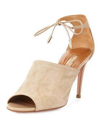 Estelle Ankle-Tie Sandal, Ash