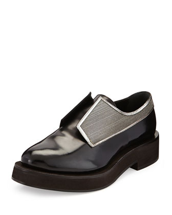 Calfskin Monili Derby Shoe, Black