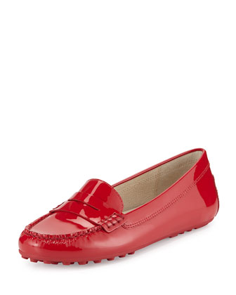 Daisy Patent Leather Loafer, Chili Red
