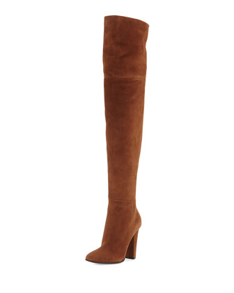 Alabama Suede Over-the-Knee Boot, Castor