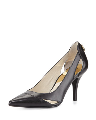 Hamilton Leather Cutout Pump, Black