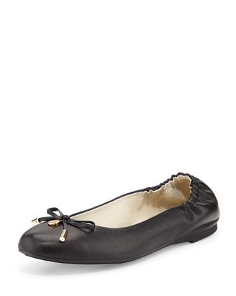 Melody Napa Leather Ballet Flat, Black