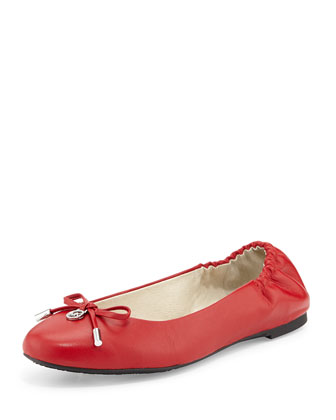 Melody Napa Leather Ballet Flat, Chili Red