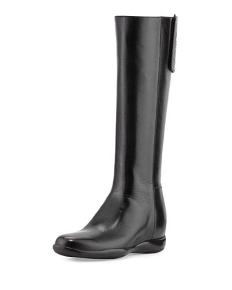 Napa Sport Logo-Tab Knee Boot, Black (Nero)