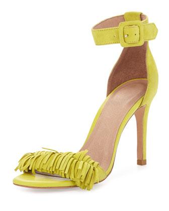 Pippi Naked Suede Fringe Sandal