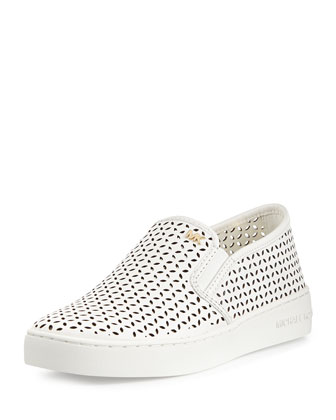Olivia Perforated Slip-On Sneaker, Optic White