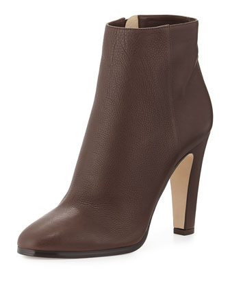 Monday Grained Calf Ankle Boot, Mocha