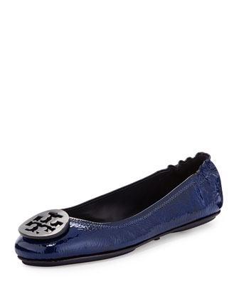 Minnie Patent Leather Travel Ballet Flat, Tory Navy