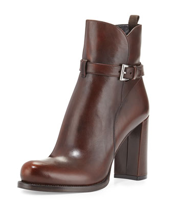 Belted Ankle Boot, Teak