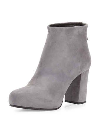 Back-Zip Ankle Boot, Gray