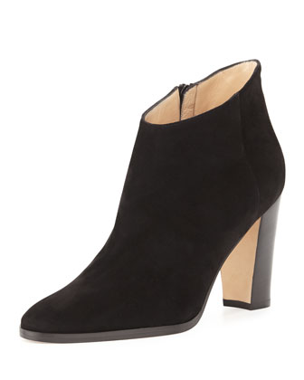 Brusta Suede Ankle Bootie, Black