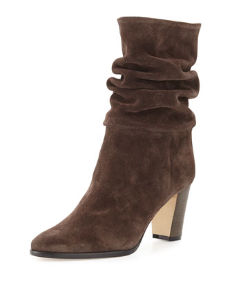Knight Slouchy Suede Boot, Alaska Dark Brown