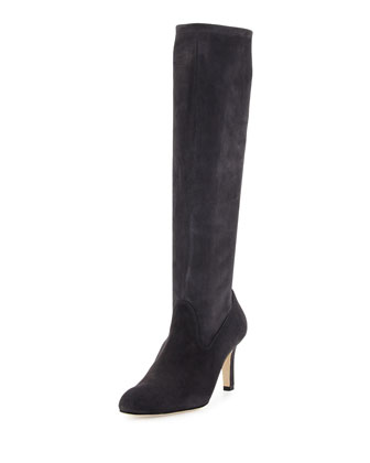 Pascaputre Suede Knee Boot, Gray