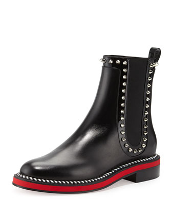 Nothing Hill Red Sole Boot, Black