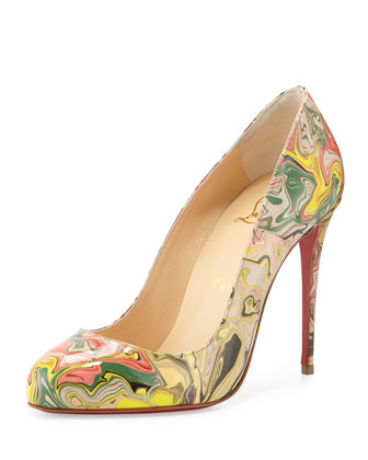 Dorisima Marbled Red Sole Pump, Multi