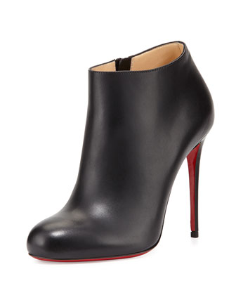 Belissima Leather Red Sole Bootie, Black