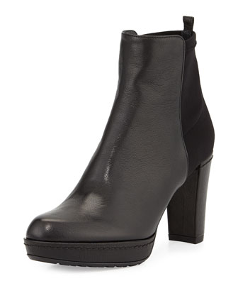 Otherhalf Leather & Suede Bootie, Black