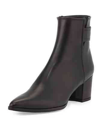 Banjosvelt Mid-Heel Ankle Boot, Black