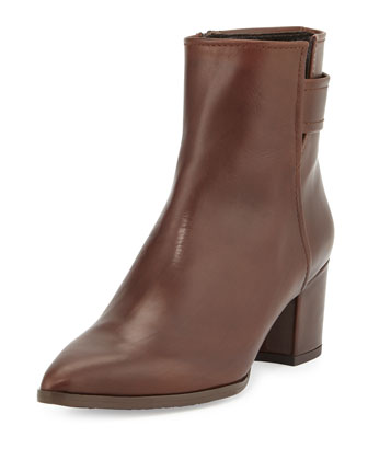 Banjosvelt Mid-Heel Ankle Boot, Chocolate