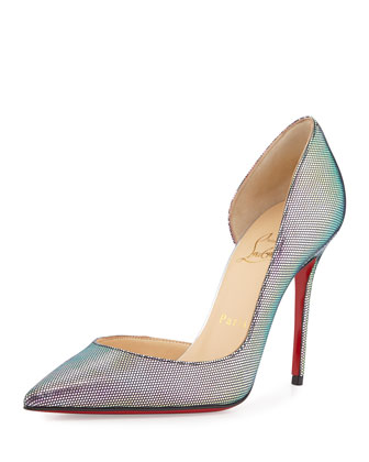 Iriza Iridescent Red Sole Pump, Digitale/Silver
