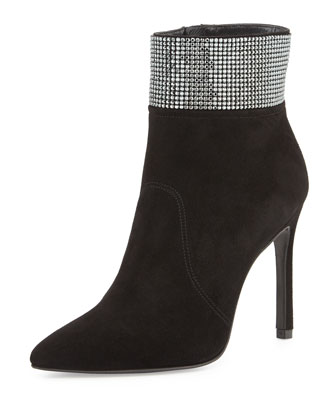 Highbeams Crystal-Cuff Bootie, Black