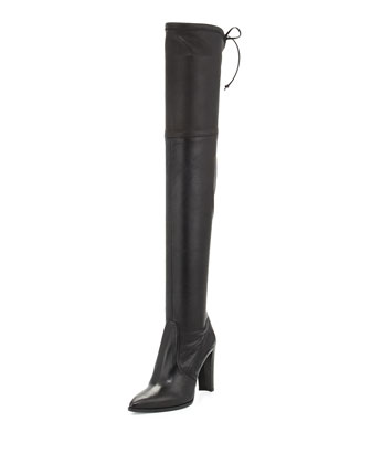 Highstreet Stretch Over-the-Knee Boot, Black