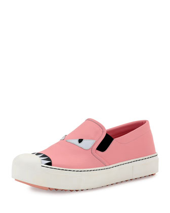 Leather Monster Skate Sneaker, Pink
