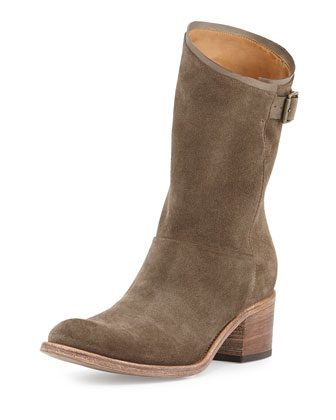 Alesia Suede Mid-Calf Boot, Tortora