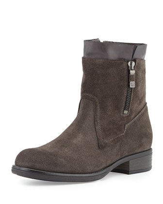 Poppi Suede Ankle Boot, Anthracite